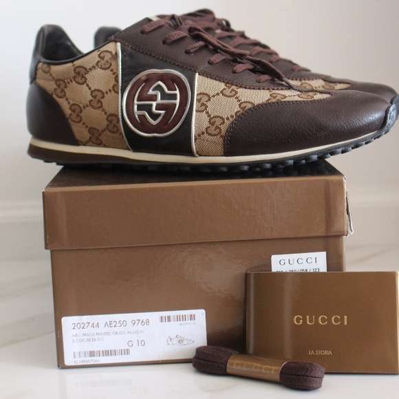 83dd1372d64 Gucci Other - Men s Gucci Praga Printed GG Lace up Sneakers